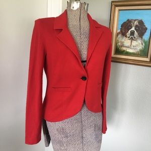C by BLOOMINGDALE'S Cashmere Red Blazer Jacket
